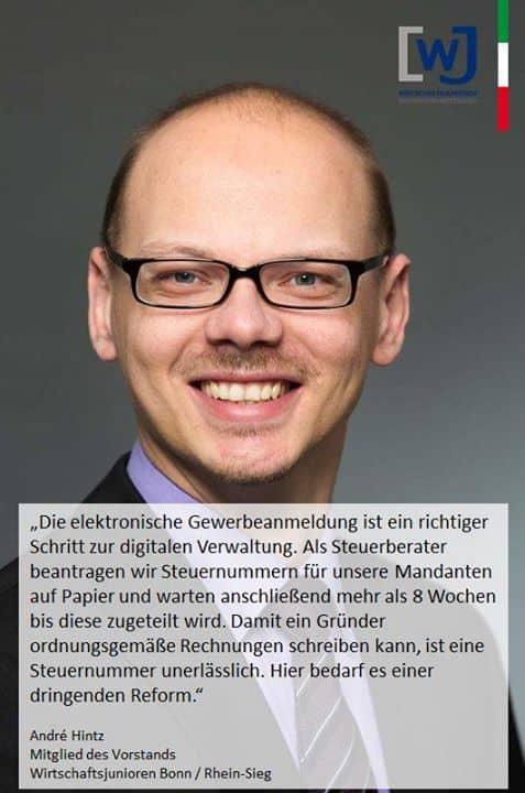 André Hintz Steuerberater / Wirtschaftsprüfer shared Wirtschaftsjunioren